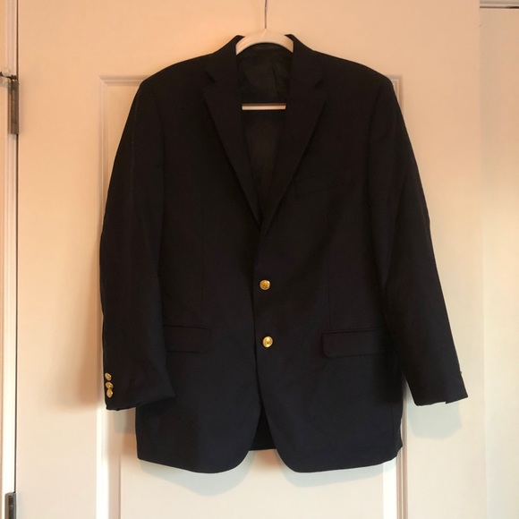 Navy Men's Wool Blazer Ralph Lauren 40R
